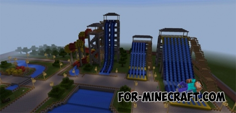 Water park map for MCPE 0.13.0