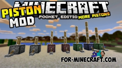 More Pistons Mod for Minecraft PE 0.13.0/0.13.1/0.14.0