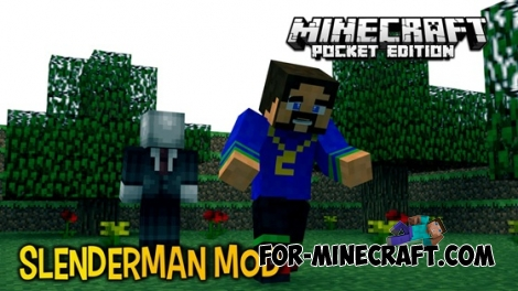 Slender Man mod for Minecraft Pocket Edition 0.13