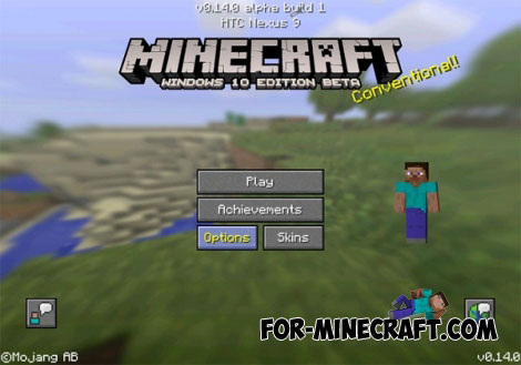 Win UI Addon For Minecraft PE - Skins para minecraft windows 10 edition beta