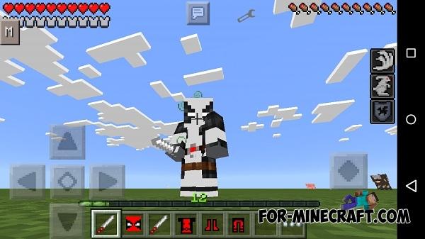 Minecraft Com The Game : Deadpool pe mod for minecraft