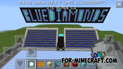 Mob Hockey map for Minecraft PE 0.14.0