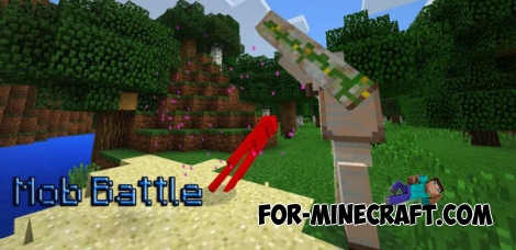 Mob Battle mod for Minecraft PE 0.14.0