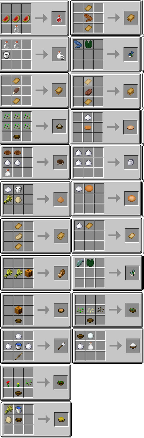 Usefull food mod for minecraft pe - Minecraft crafting table recipes list ...