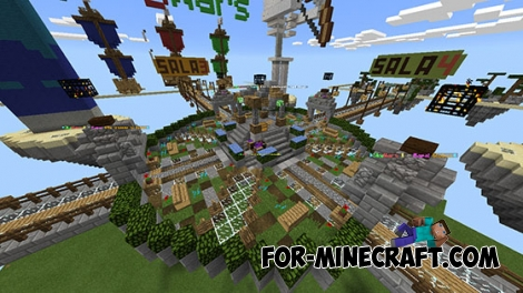 Skywars map by Yupai for MCPE 0.14.0