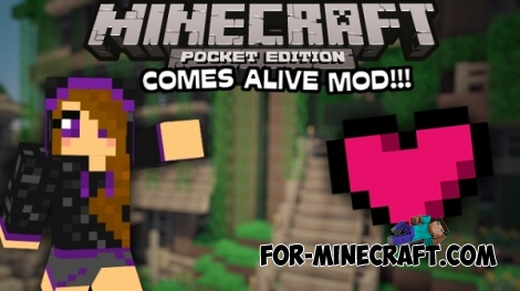 Comes Alive PE Mod for Minecraft PE 0.14.0/0.14.1/0.14.2