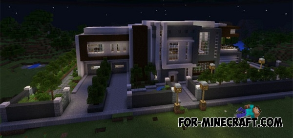 Modern Mansion Map For Mcpe 0 14 1 0 15 0