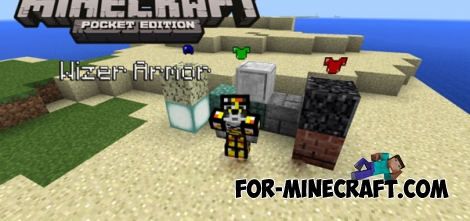Wizer Armor mod for MCPE 0.14.0/0.14.1