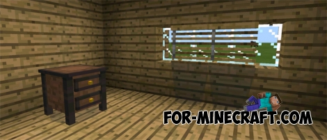 Pocket Furniture mod for MCPE 0.14.0/0.14.1