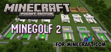 MineGolf 2 map for Minecraft PE 0.14.2/0.15.0
