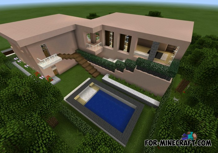 Modern House Map For MCPE - Minecraft pe coole hauser