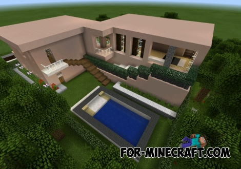 Modern house map for MCPE 0.15.0/0.15.1