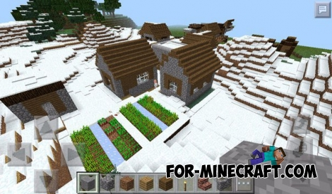 Two villages and Taiga seed for Minecraft PE 0.15