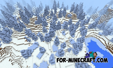 Big snow Biome for Minecraft Pocket Edition