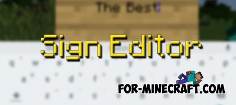 Sign Editor mod for MCPE 0.15.1/0.15.2