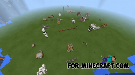 20 Redstone mechanisms map for Minecraft PE 0.15