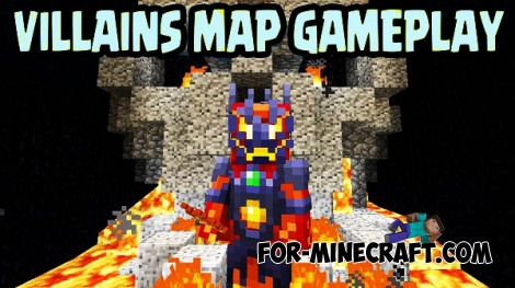 Villains map for Minecraft PE 0.15