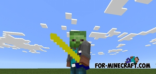 how to build a sword in minecraft pe