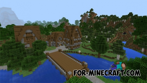 Ruhig Village map for Minecraft PE 0.15/0.16.0