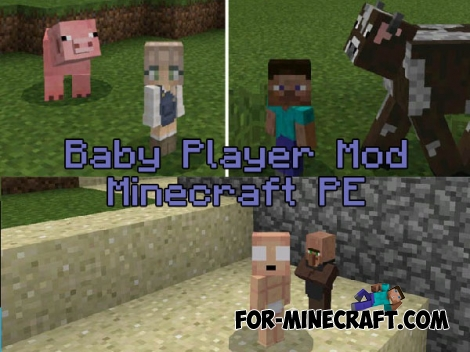 Baby Player mod v10 for MCPE 0.16-1.2
