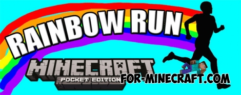 Rainbow Running map for Minecraft Pocket Edition 0.16.0