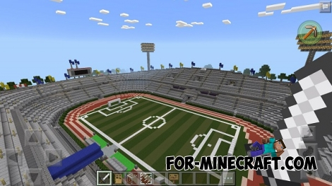 Soccer Stadium map for Minecraft PE 0.16.0