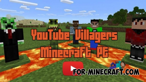 YouTube Villagers texture for MCPE 0.16