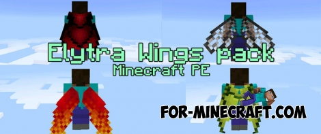 Elytra Wings pack v2 for Minecraft Pocket Edition 0.17.0 (1.0)