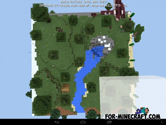 Square planet survival map for minecraft pe 1 0 for Explore craft survival pe