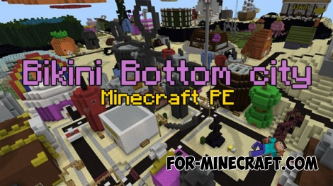 Bikini Bottom city for Minecraft PE 0.17.0