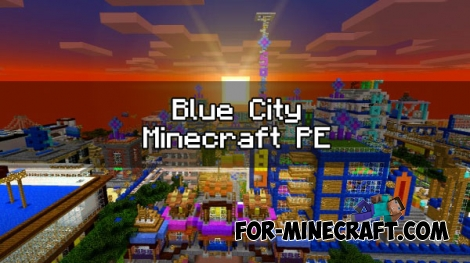Blue City map v9.3 for Minecraft PE 1.2/1.5