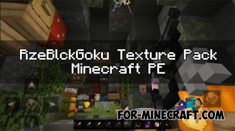 RzeBlckGoku Texture pack for Minecraft PE 1.0.0 / 0.17.0