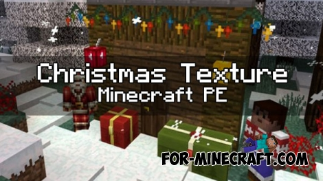Christmas Texture pack for Minecraft PE 1.0.0/0.17.0