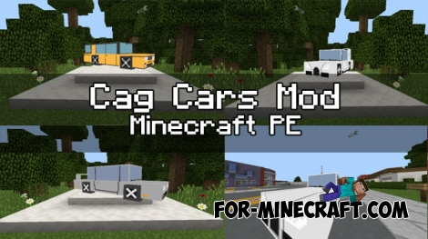 Cag Cars Mod for Minecraft PE 0.17.0/1.0