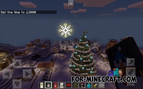 Christmas Village map for MCPE 1.0