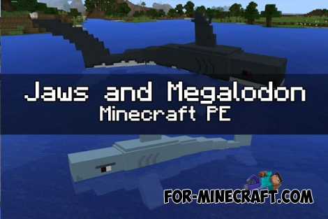 Jaws and Megalodon addon for Minecraft PE 1.0 / 0.17.0