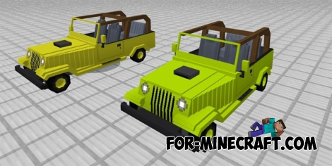 Jeeps mod for Minecraft PE 1.0.0/1.2