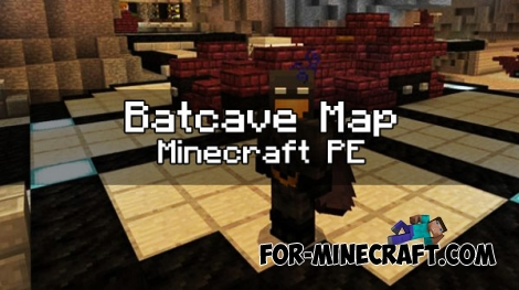 Batcave map for Minecraft PE 1.0.0