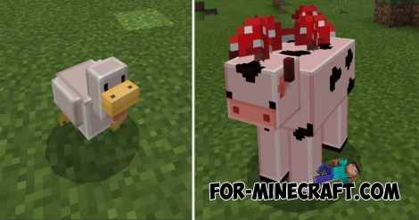 Blocky Mobs texture pack for MCPE 1.0.0/1.0.2