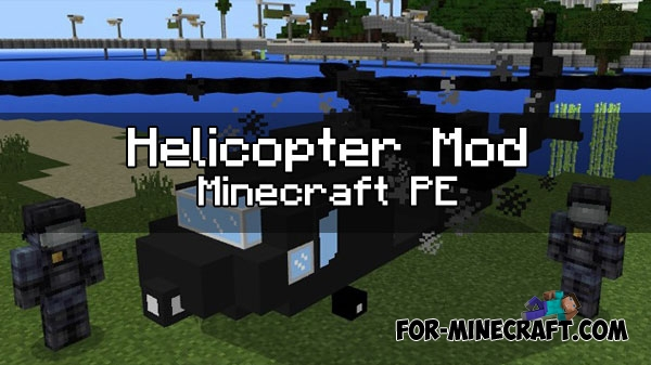 helicopter mod for minecraft pe - Helicopter Mod