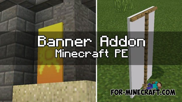 how to write on a banner in minecraft pe