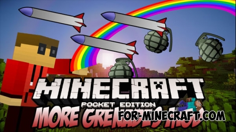 More grenades mod for Minecraft PE 1.0.0/1.0.2