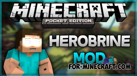 Herobrine Mod v2 for Minecraft PE 0.17.0/1.0.0/1.0.2