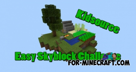 Kidsource Skyblock map for MCPE 1.0.3
