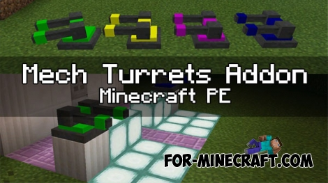 Mech Turrets Addon for MCPE 0.17.0/1.0.4