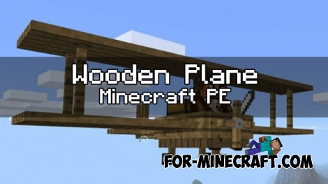 Wooden Plane for Minecraft PE 1.0.X