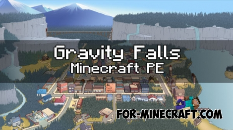 Gravity Falls map for Minecraft PE