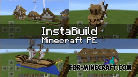 InstaBuild pack for MCPE 1.0.0/1.0.4