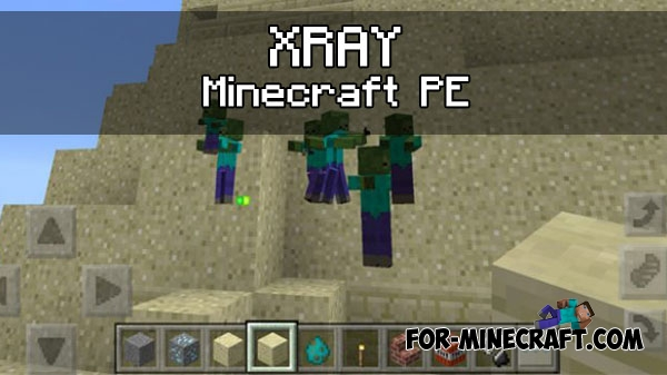 how to make a xray in minecraft pe