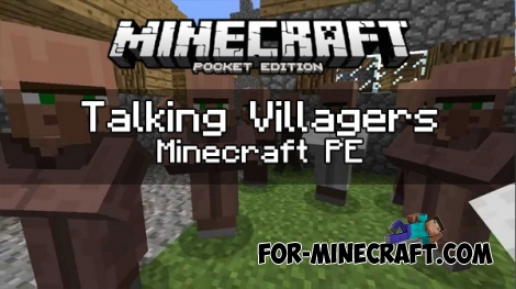 Talking Villagers (Voice addon) for MCPE 1.0.4.1